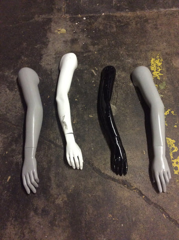 Mannequin Arms with Hands: Set of 4