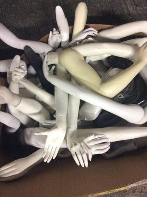 Used Set of 4 Mannequin Arms with Hands