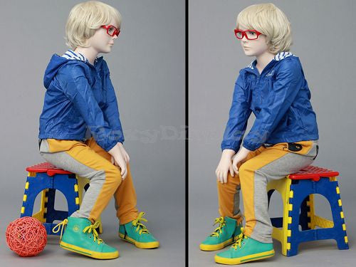 Kai: Child Mannequin in a Seated Pose