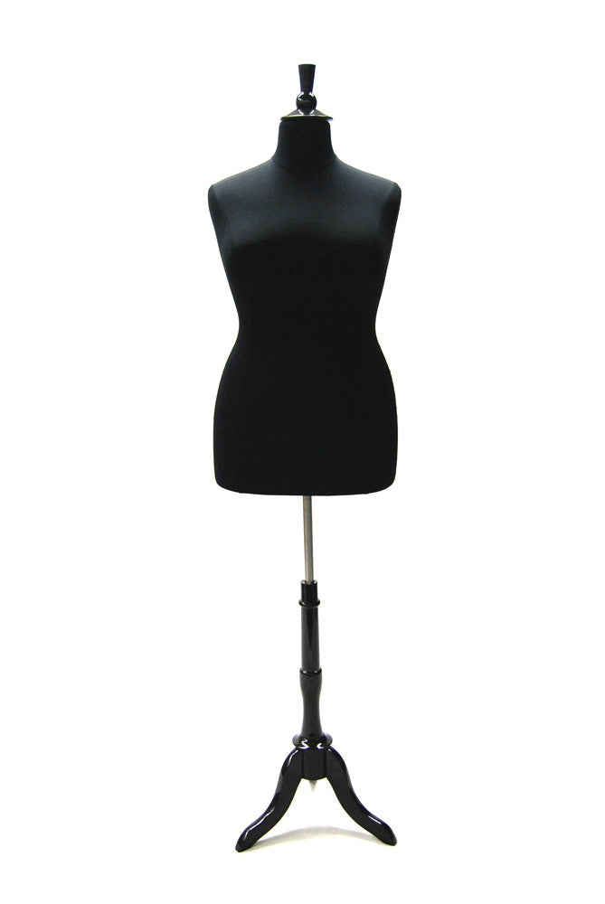 Size 14/16 Plus Size Body Form Black Jersey with Tripod base