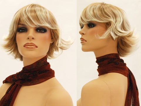 Female Wig: Short Golden Layered Hair
