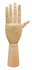 Wooden Articulated Hand -- Female LEFT