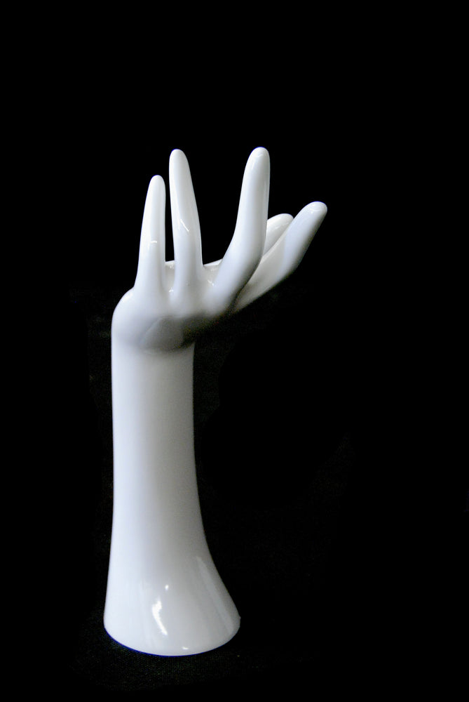 Jewelry Display Hand 1: Glossy White
