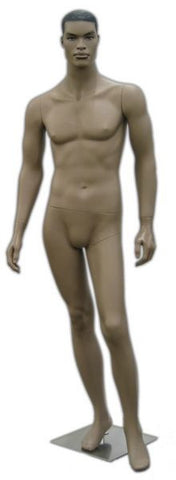 African-American Male Mannequin with Molded Hair