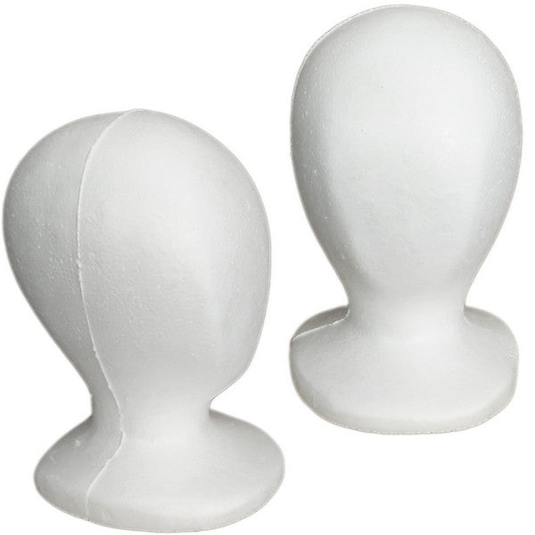 Set of 5 Child Size Styrofoam Mannequin Head