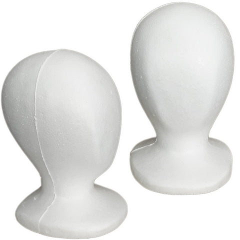 Child Size Styrofoam Mannequin Head - Set of 5