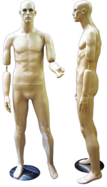 Realistic Male Mannequin with Bendable Arms #1