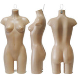 Plastic Hanging Female Half-leg Torso: Tan colored