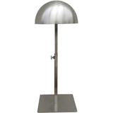 Brushed Chrome Countertop Hat Dome Display with Adjustable Height