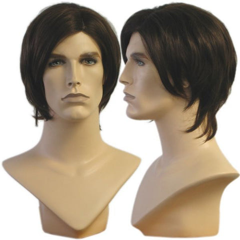 Dipped Bowl Cut Male Wig: Tommy
