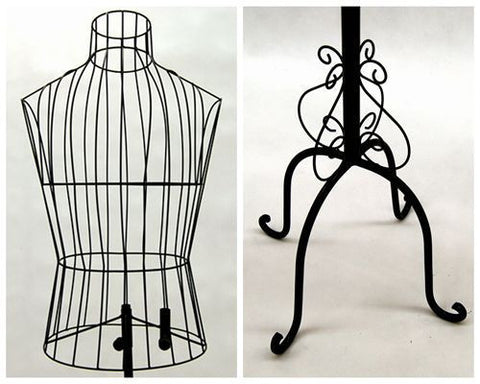 Male Wire Dress Form Mannequin: Black