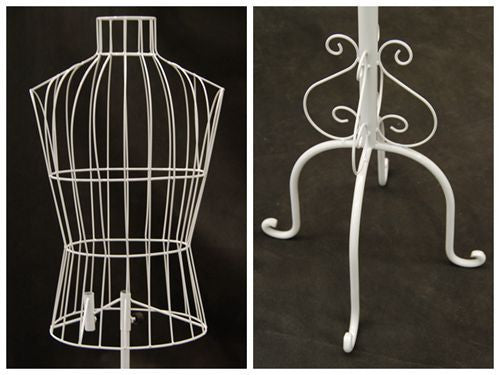 Male Wire Dress Form Mannequin -- White