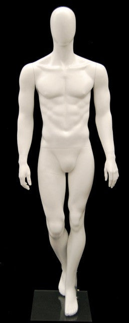 Marvin: Egghead Male Mannequin in Matte White