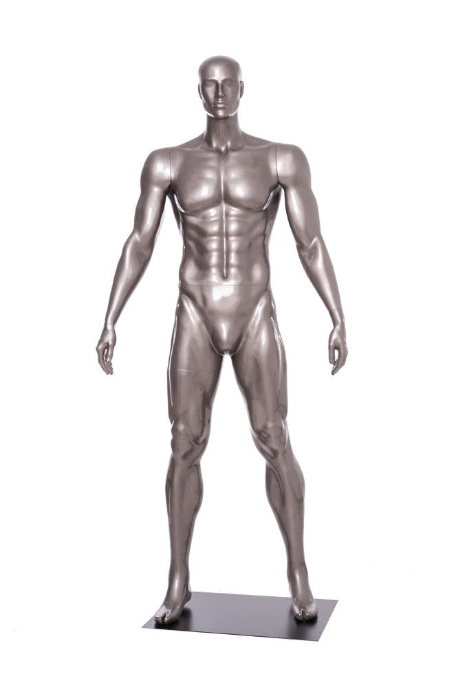 Sports: Male Football Mannequin 3 -- Glossy Grey