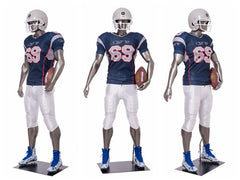 Sports: Male Football Mannequin 6 -- Glossy Grey