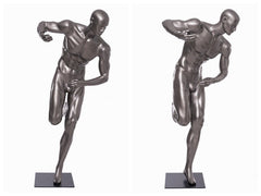 Sports: Male Football Mannequin 9 -- Glossy Grey