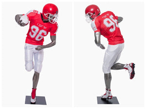 Football Playing Male Mannequin 8: Glossy Grey