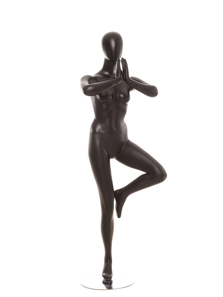 Yoga Egghead Female Mannequin in Tree Pose