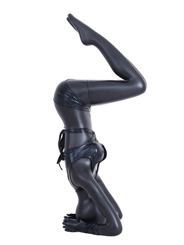 Yoga Egghead Female Mannequin in Headstand Pose