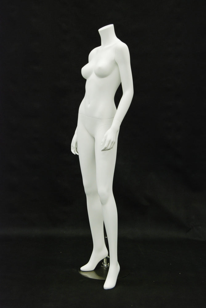 Franny 2: Headless Female Mannequin: Matte White