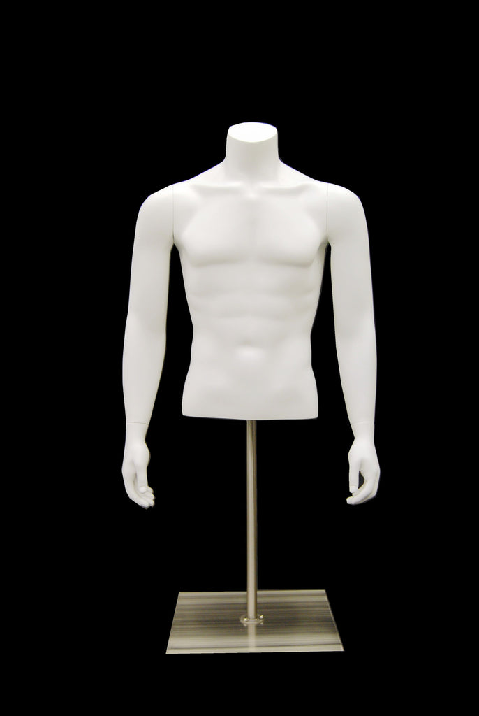 Headless Male 1/2 Torso on Stand