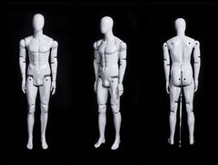 Articulated Male Mannequin -- White