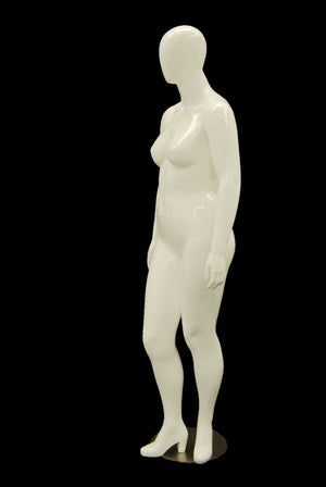 Nancy 1: Plus Size Female Egghead Mannequin Glossy White