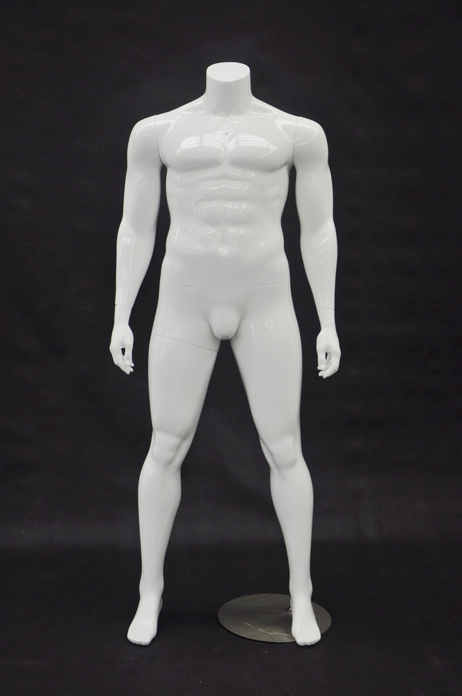 Big and Tall Mannequin Headless : White