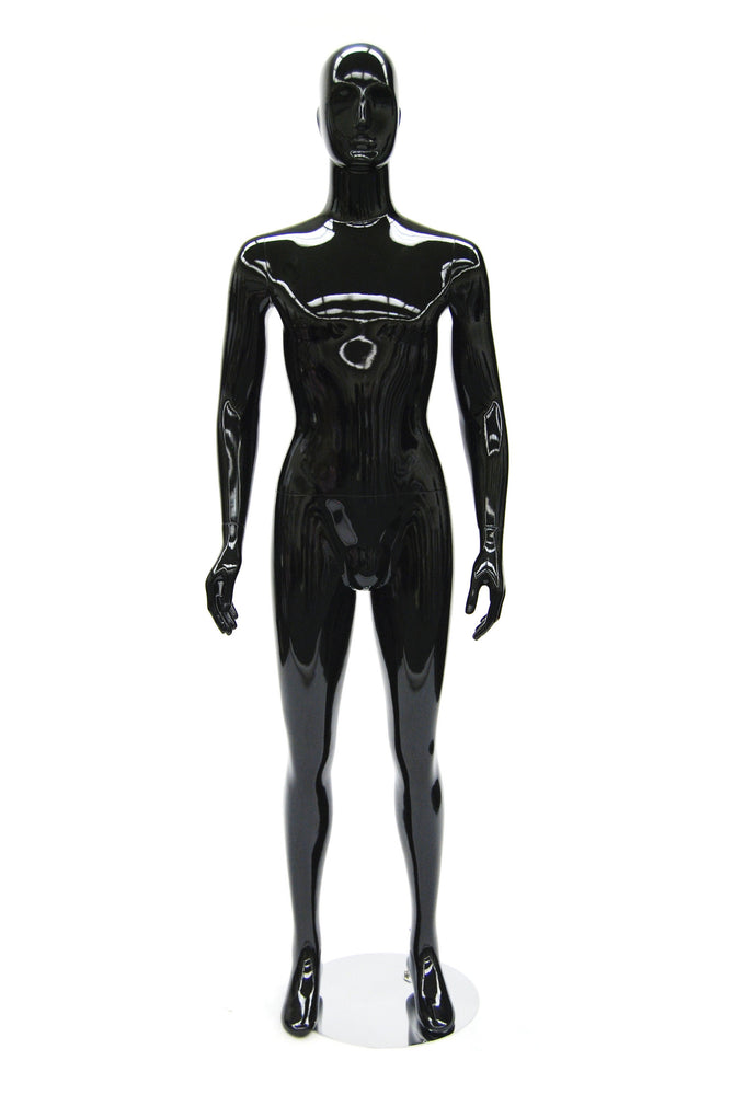 Antoine: Egghead Male Mannequin in Glossy Black