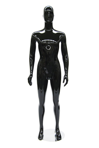 Anselm: Black Glossy Egghead Male Mannequin