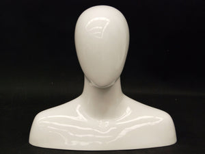 Male Mannequin Head with Round Shoulder