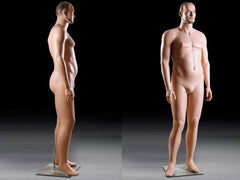 Realistic Middle-Aged Male Big and Tall Mannequin