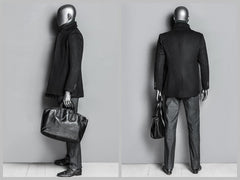 Abstract Male Mannequin in Standng Pose 2 -- Metallic Grey