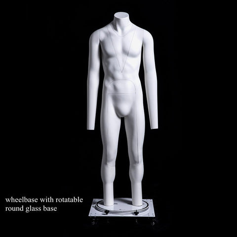 Male Ghost Mannequin: Deluxe Version with Rotating Base