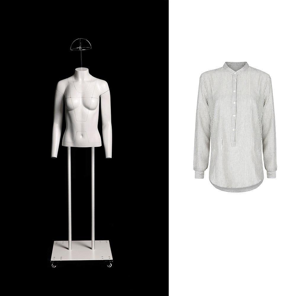 Female Ghost Mannequin: ULTRA Deluxe Version with Non-Rotating Base