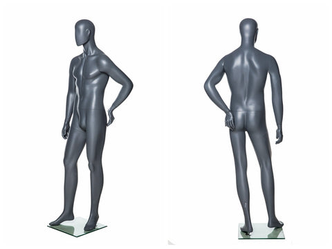 Abstract Male Mannequin in Standing Pose 2: Grey