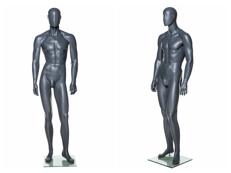 Abstract Male Mannequin in Standing Pose 4 -- Grey