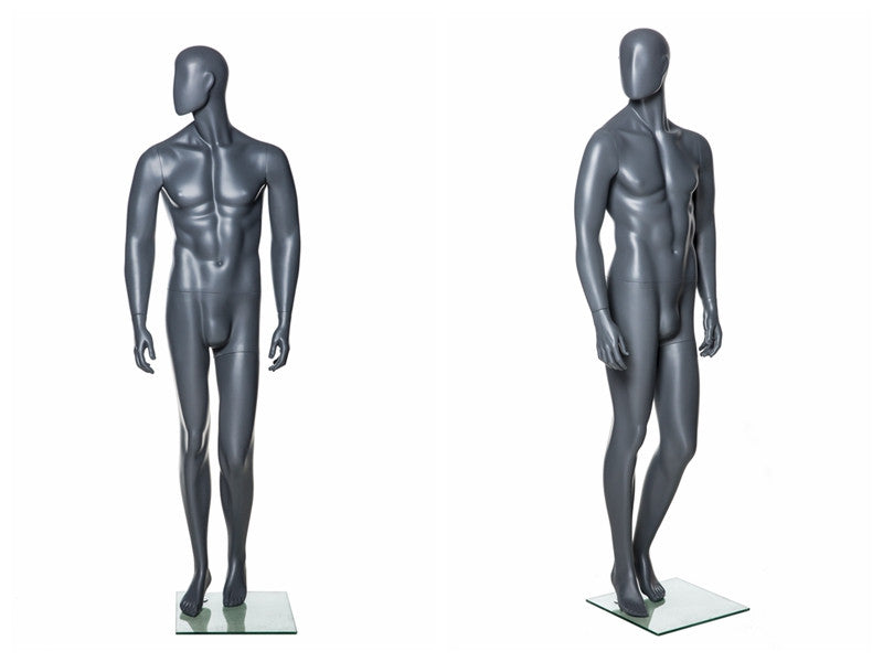 Abstract Male Mannequin in Standing Pose 3 -- Grey