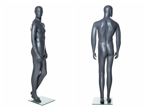 Abstract Male Mannequin in Standing Pose 3: Grey