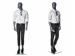 Egghead Male Mannequin in Standing Pose 3: Grey