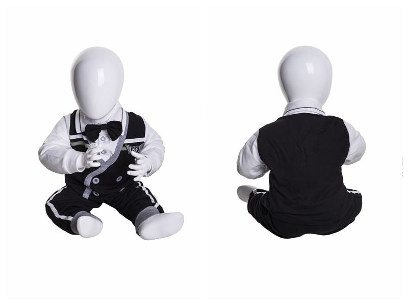 Infant Egghead Mannequin in Glossy White