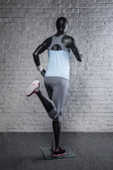 Running Egghead Female Mannequin -- Matte Black
