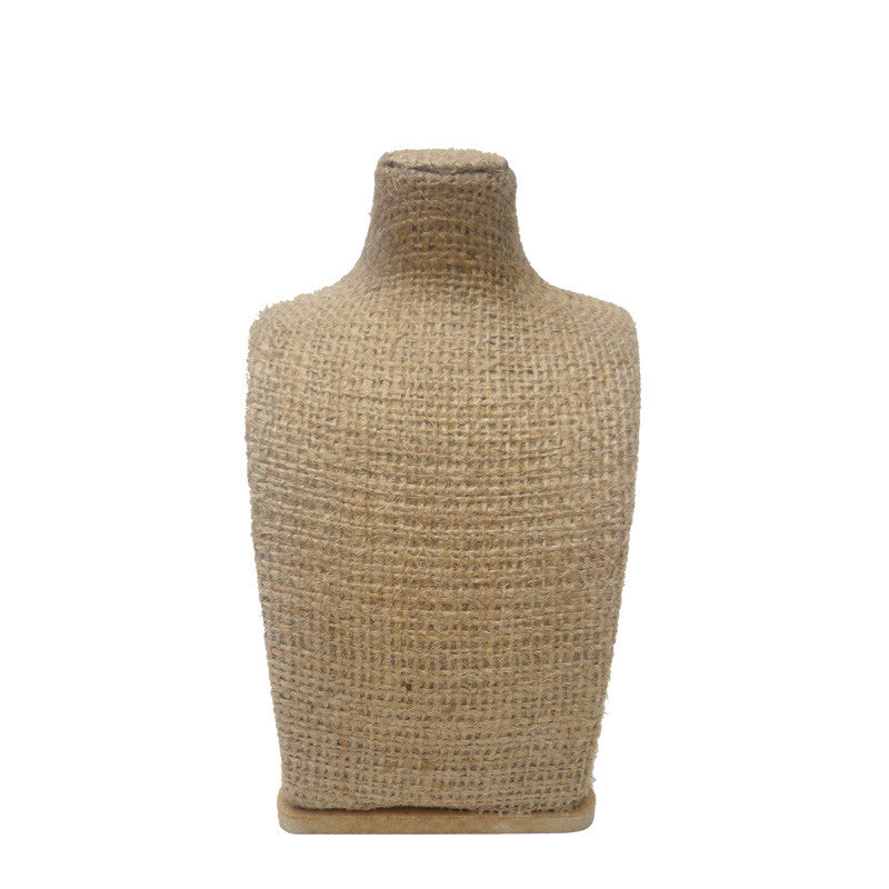 Jewelry Bust Form:  Eco-friendly Burlap in Assorted Sizes