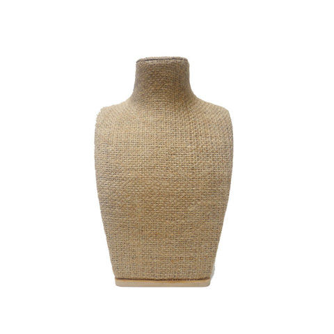 Organic Eco-Friendly Bust Form: Burlap in Various Heights