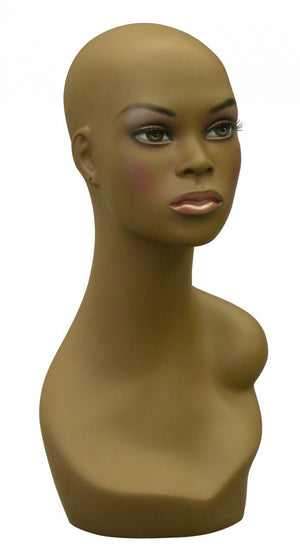 Wakanda: African-American Female Head with Soft V-Neck & Partial Shoulder