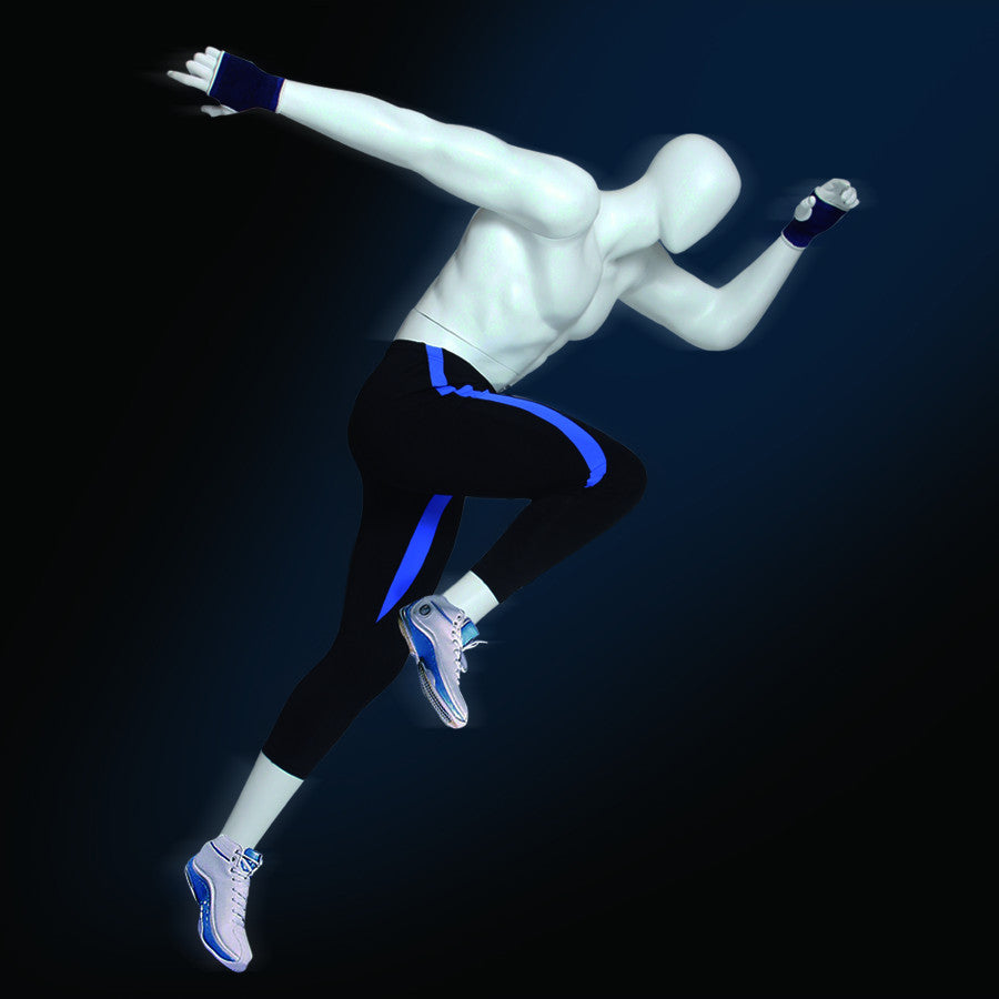 Athletic Egghead Male Mannequin: Running 4