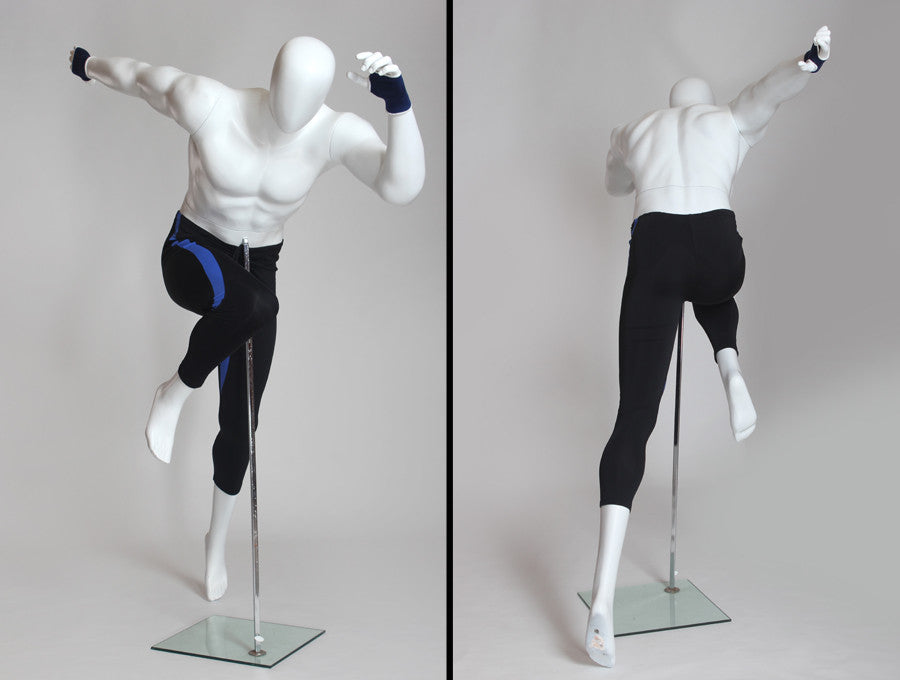 Running Egghead Male Mannequin: Matte White or Chocolate