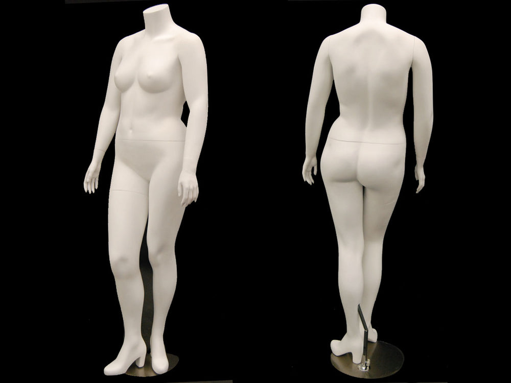 Babs: Plus Size Headless Female Mannequin