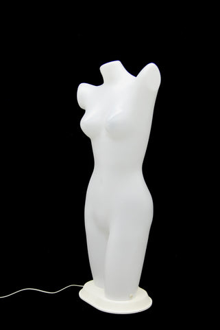 Plastic Female Half-leg Torso with LED Lights