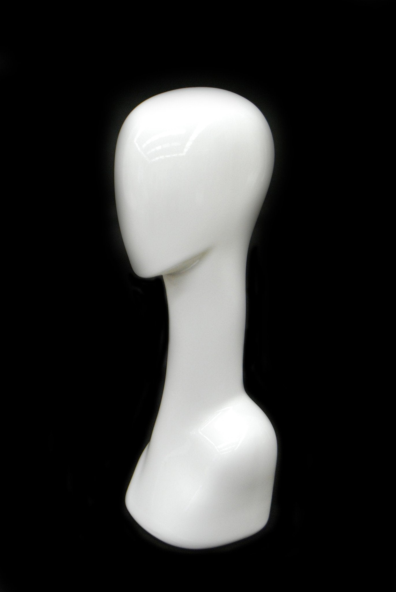 Female Mannequin Head -- Abstract in White #2